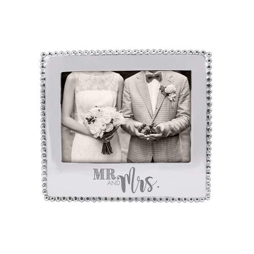 MR. & MRS. Beaded 5x7 Frame | Mariposa Photo Frames