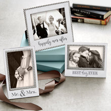 Load image into Gallery viewer, MR. & MRS. Beaded 5x7 Vertical Frame-Photo Frames-|-Mariposa