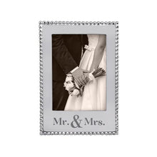 Load image into Gallery viewer, MR. & MRS. Beaded 5x7 Vertical Frame | Mariposa Photo Frames