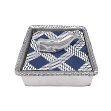 Load image into Gallery viewer, Nantucket Whale Rope Napkin Box | Mariposa Napkin Boxes and Weights