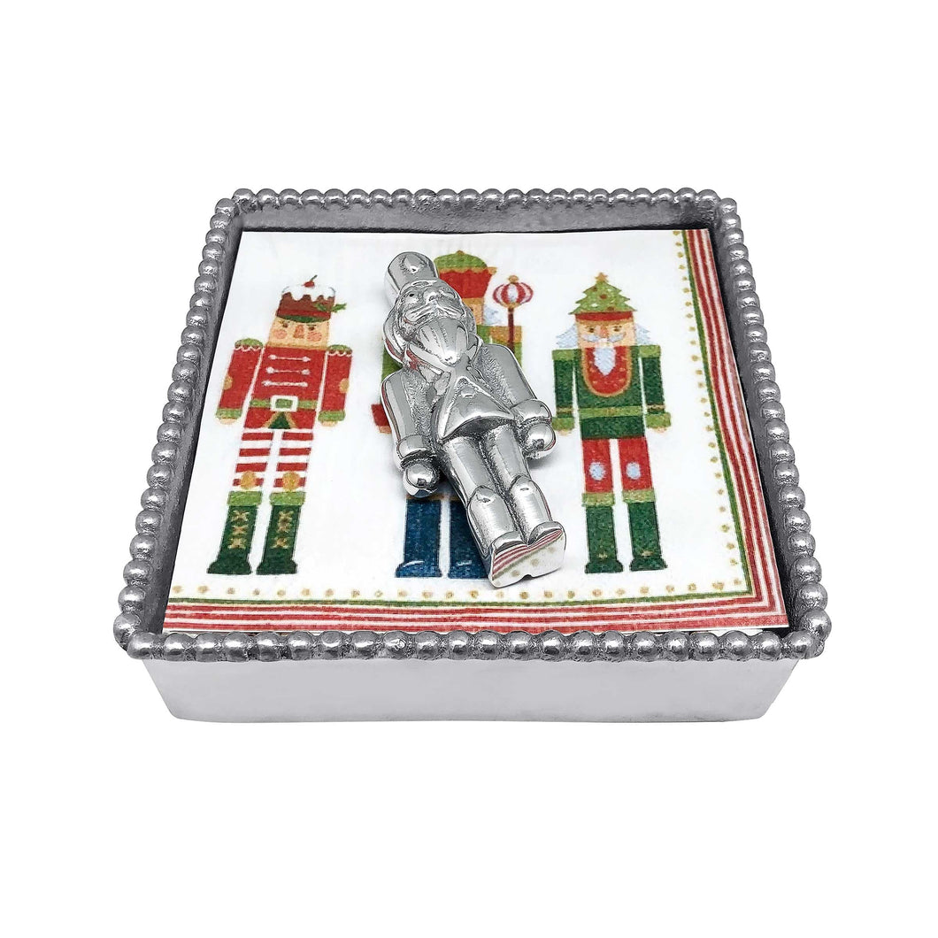 Nutcracker Beaded Napkin Box -Napkin Holders | Mariposa