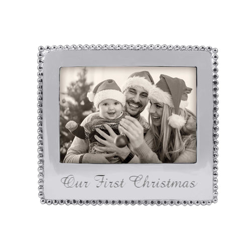 OUR FIRST CHRISTMAS Beaded 5x7 Statement Frame-Statement Frame | Mariposa