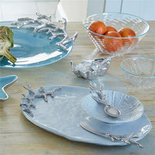 Load image into Gallery viewer, Oyster Dish with Coral Spoon-Table Accessories-|-Mariposa