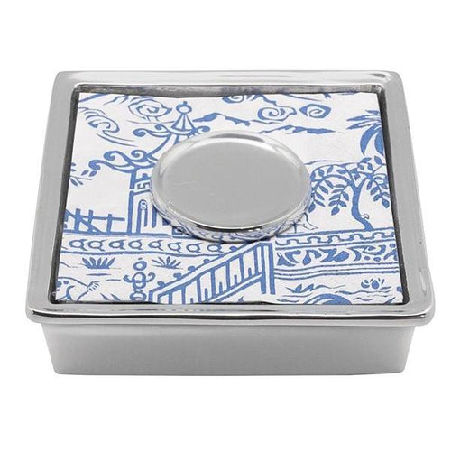 Pagoda Signature Cocktail Napkin Box | Mariposa Napkin Boxes and Weights