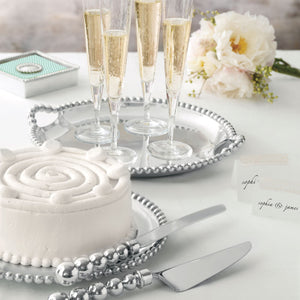 Pearled Cake Server Set-Table Accessories-|-Mariposa