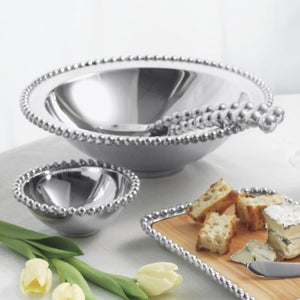 Pearled Cheese & Cracker Server-Serving Trays and More-|-Mariposa