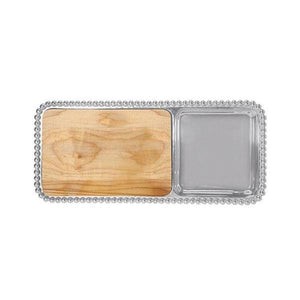 Pearled Cheese & Cracker Server | Mariposa Serving Trays and More