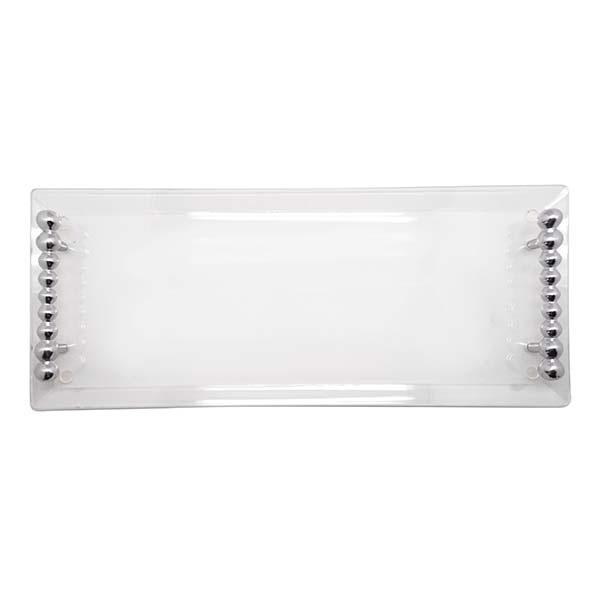Pearled Handle Acrylic Tray