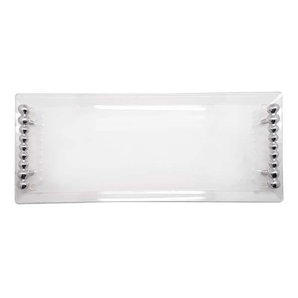 Pearled Handle Acrylic Tray | Mariposa Serving Trays and More