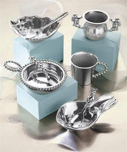 Load image into Gallery viewer, Pearled Porringer & Spoon Set-Baby-|-Mariposa