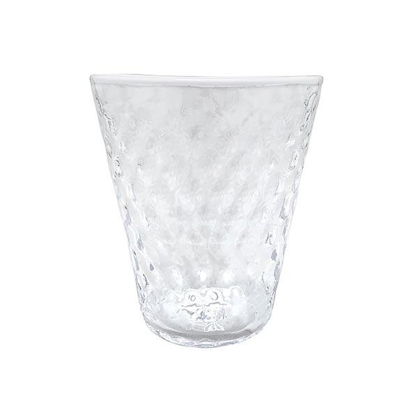 Pineapple Textured Highball Glass, White Rim