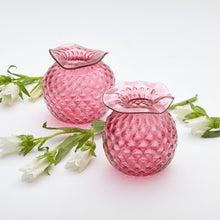 Load image into Gallery viewer, Mariposa Handblown Pink Pineapple Bud Vases