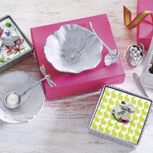 Load image into Gallery viewer, Poppy Ceramic Canape Plate with Poppy Spoon-Canape and Small Plates-|-Mariposa