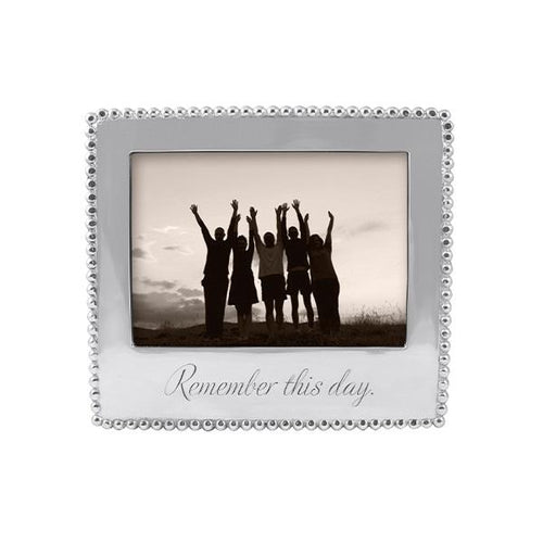 REMEMBER THIS DAY Beaded 5x7 Frame | Mariposa Photo Frames