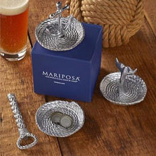Load image into Gallery viewer, Rope handle Bottle Opener & Catcher Set-Barware-|-Mariposa
