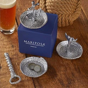 Rope handle Bottle Opener & Catcher Set-Barware-|-Mariposa