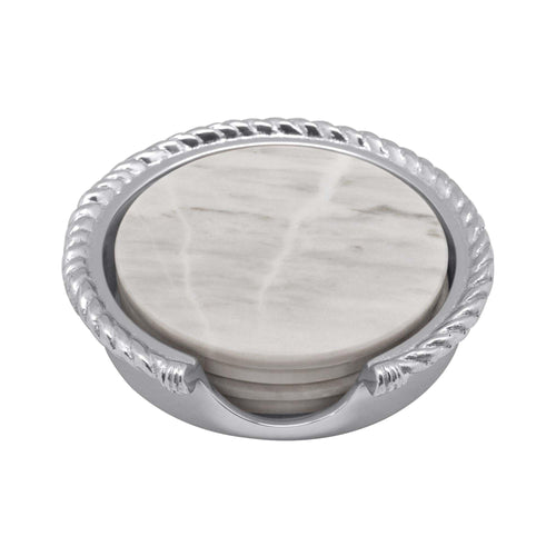Rope Marble Coaster Set | Mariposa Serving Trays and More