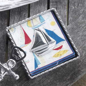 Sailboat Napkin Weight-Napkin Boxes and Weights-|-Mariposa
