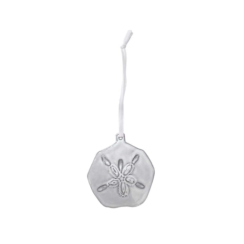 Sand Dollar Ceramic Ornament-Ornaments | Mariposa