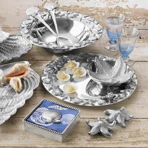 Scallop Shell Napkin Weight-Napkin Boxes and Weights-|-Mariposa