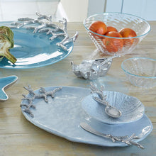 Load image into Gallery viewer, Sea Urchin Ceramic Canape Plate with Coral Spoon-Ceramics-|-Mariposa