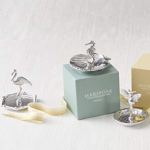 Seahorse and Scallop Ring Dish-Gifts and Accessories-|-Mariposa