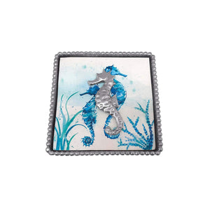 Seahorse Napkin Weight-Napkin Boxes and Weights-|-Mariposa