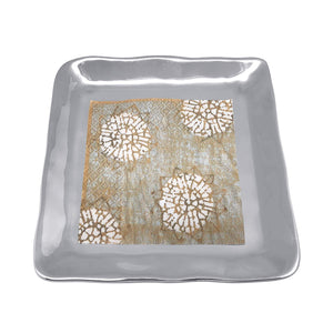 Shimmer Small Square Plate-Canape and Small Plates-|-Mariposa