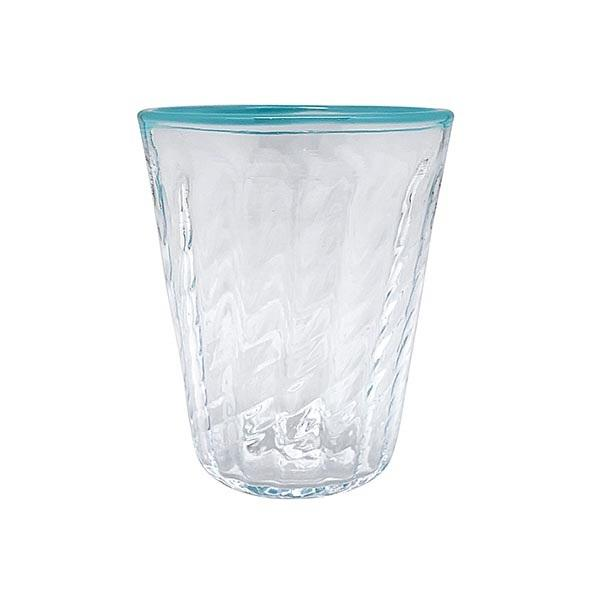 Urchin Textured Highball Glass, Aqua Rim