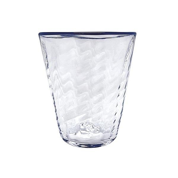 Urchin Textured Highball Glass, Cobalt Rim