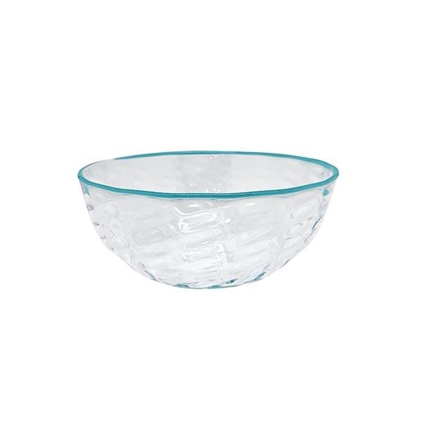 Urchin Textured Small Bowl, Aqua Rim