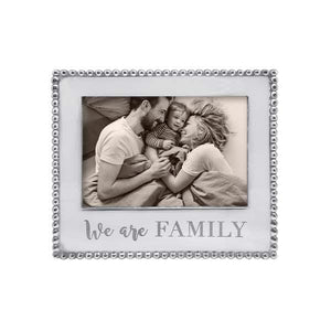 WE ARE FAMILY Beaded 5x7 Frame | Mariposa Photo Frames