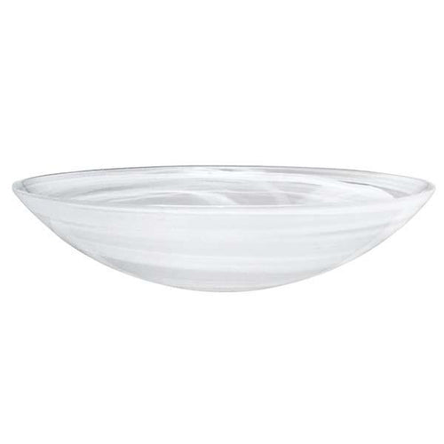 White Alabaster Serving Bowl | Mariposa Bowls