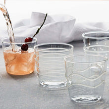 Load image into Gallery viewer, White Appliqué Branches Double Old Fashion Glass-Glassware-|-Mariposa
