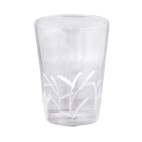 White Appliqué Branches Highball Glass | Mariposa Glassware