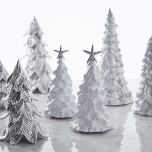 White Ceramic Large Tree with Star-Decorative Accessories | Mariposa