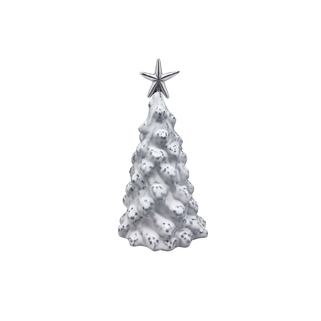 White Ceramic Small Tree with Star-Decorative Accessories | Mariposa