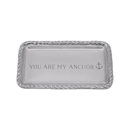 YOU ARE MY ANCHOR Rope Statement Tray | Mariposa Statement Trays