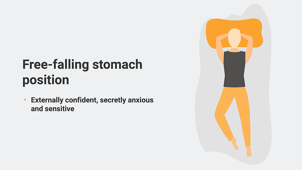Free-falling stomach position