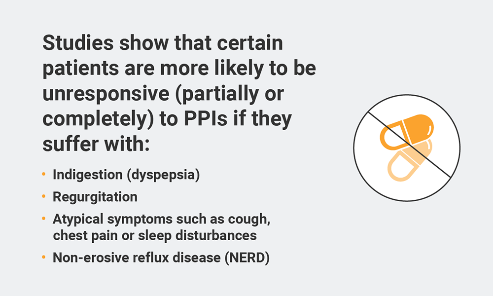 Studies show that certain patients are more likely to be unresponsive to PPIs if they suffer these conditions.