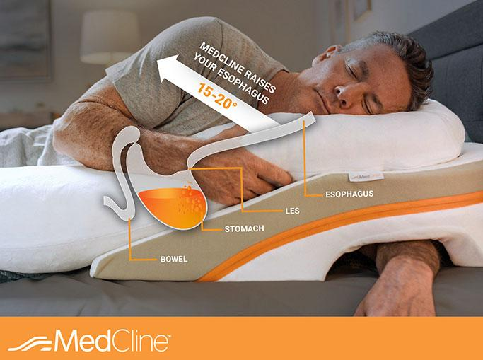 infographic acid reflux when sleeping on left side