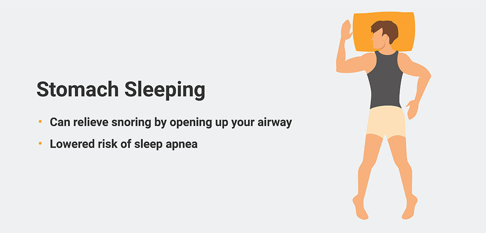 Stomach sleeping infographic