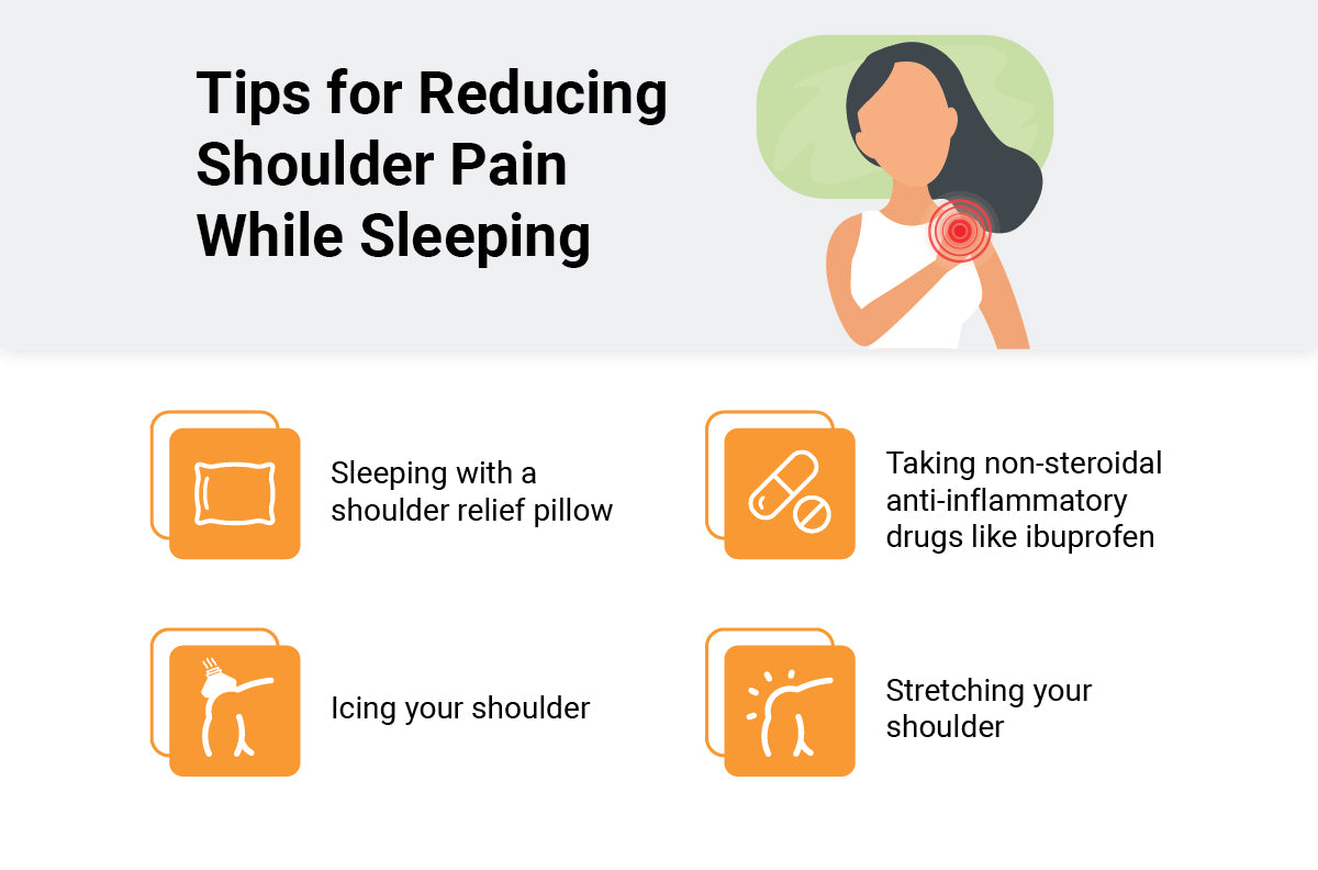 shoulder pain reducing tips infographic
