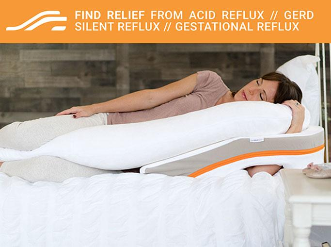 woman sleeping on medcline reflux relief system