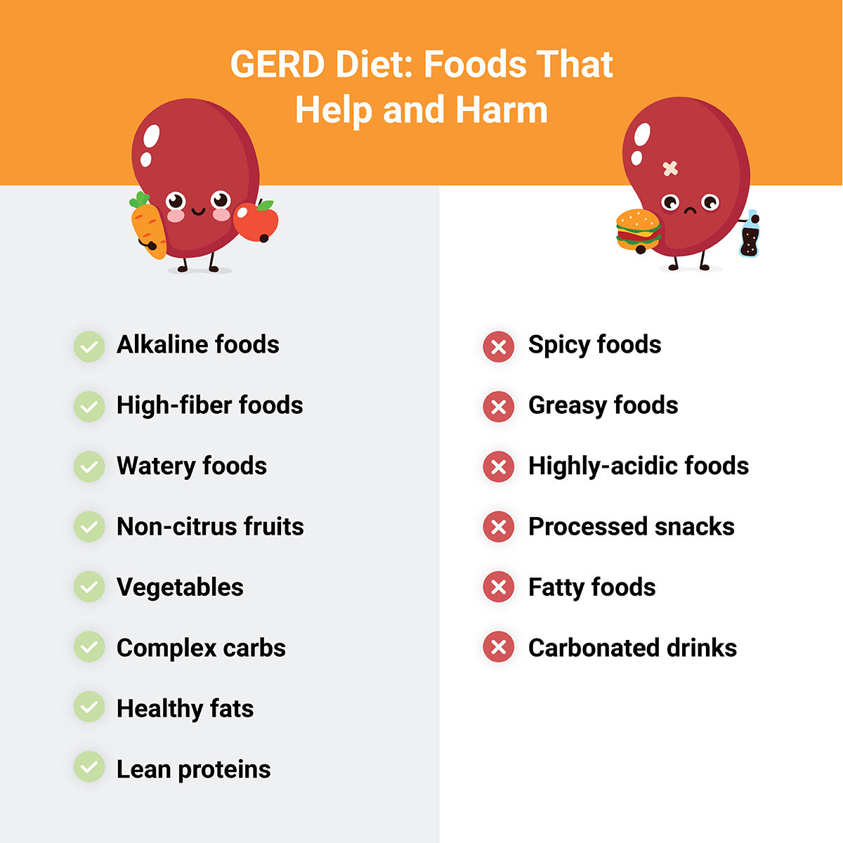 GERD foods to avoid and foods to enjoy