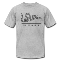 White Join or Die Tee - heather gray