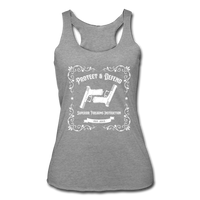 Women's Whiskey Bottle Tank - heather gray