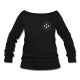 Women's Whiskey Logo Wideneck Sweatshirt - black