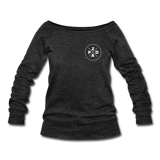 Women's Whiskey Logo Wideneck Sweatshirt - heather black