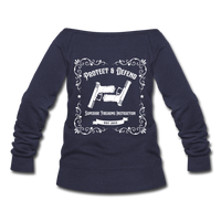Women's Whiskey Logo Wideneck Sweatshirt - melange navy